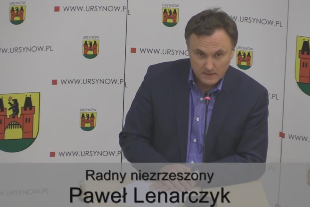 Paweł Lenarczyk - sesja Rady Dzielnicy Ursynów