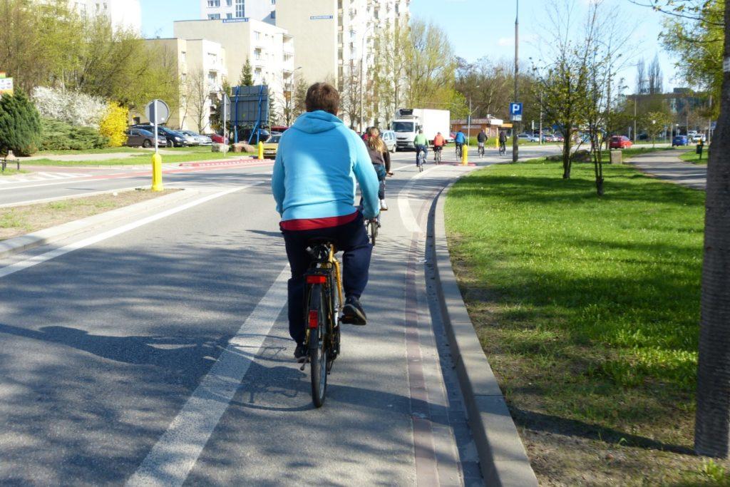 Ursynów - pasy rowerowe