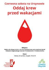 Oddaj krew na Ursynowie - krwiodawstwo