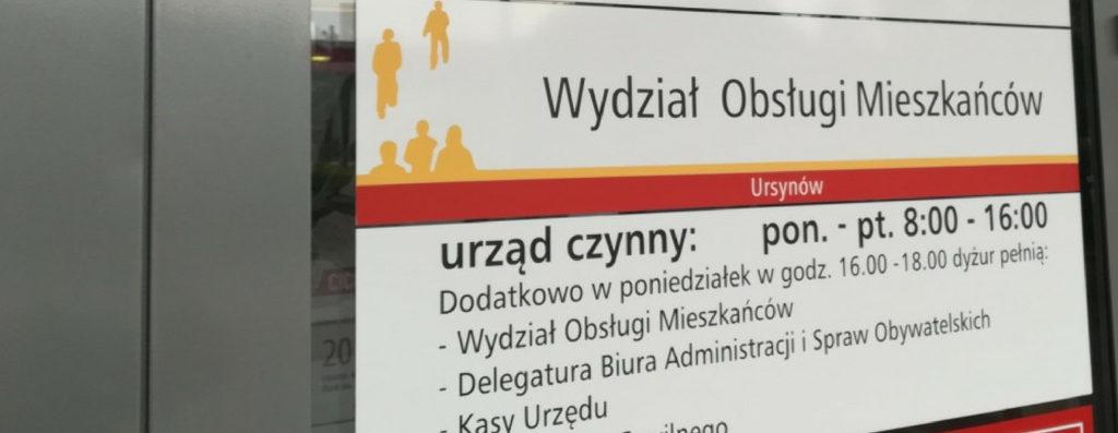 PETYCJA: Dostosujmy godziny pracy Urzędu Dzielnicy Ursynów do potrzeb mieszkańców