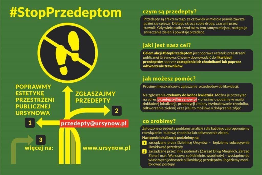 #StopPrzedeptom, przedepty, Urząd Dzielnicy Ursynów m.st. Warszawy