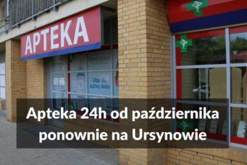 Apteka 24h od października ponownie na Ursynowie