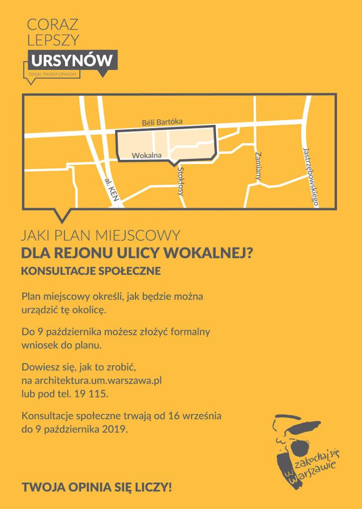 Jaki plan miejscowy dla rejonu ulicy Woklanej? - można składać wnioski