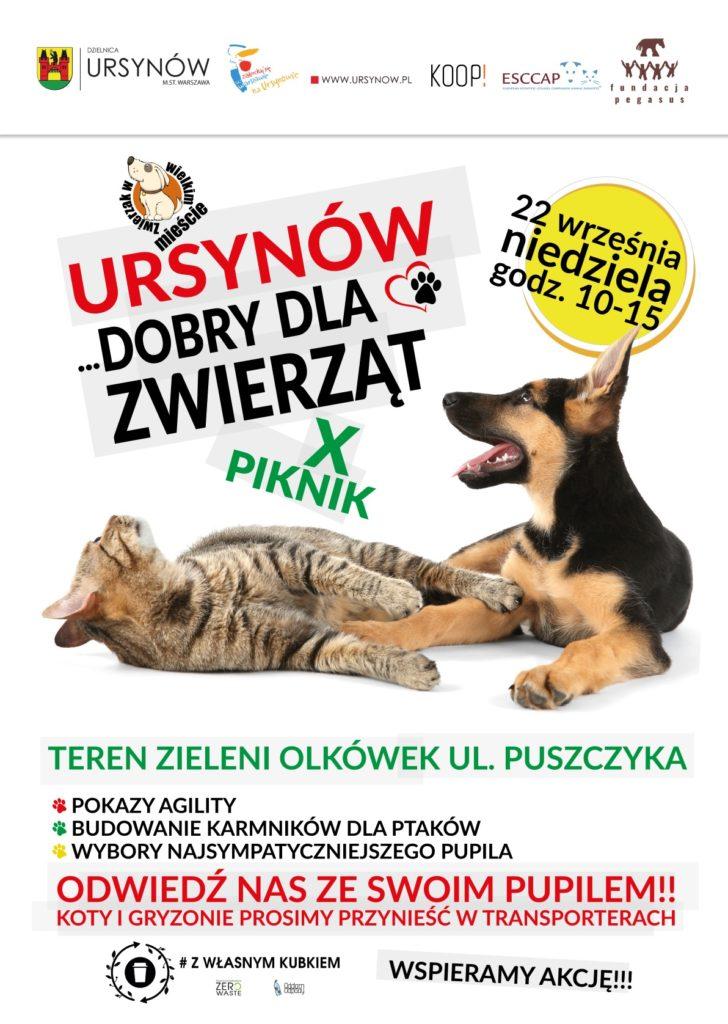 """X edycja pikniku rodzinnego """"Ursynów dobry dla zwierząt"""""""