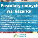 Postulaty radnych ws. bazarku