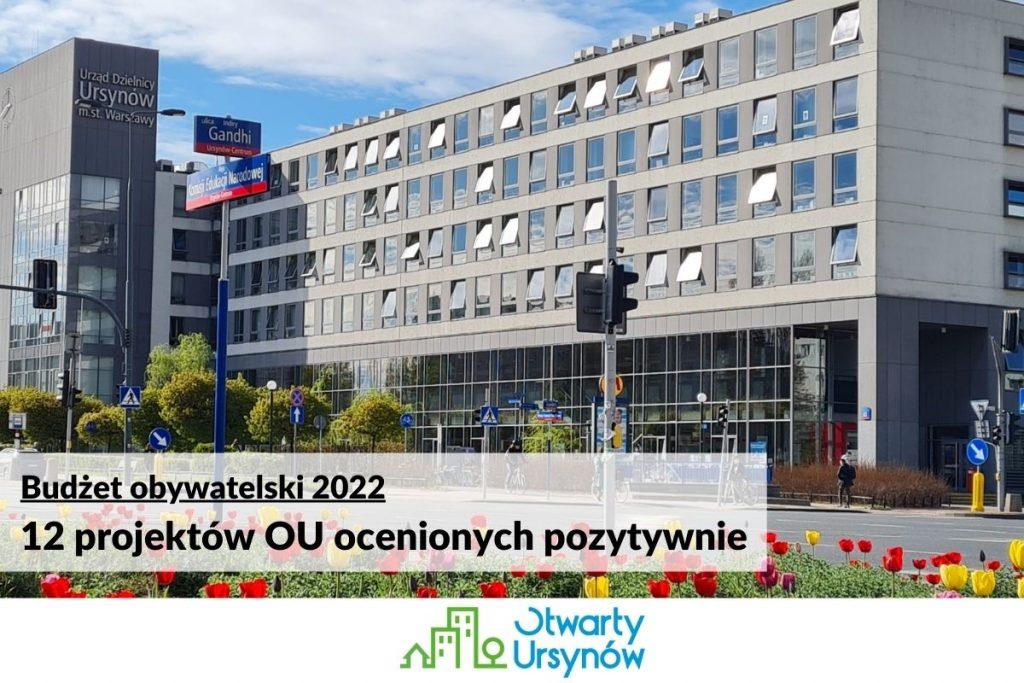 BO2022: 12 projektów Otwartego Ursynowa ocenionych pozytywnie